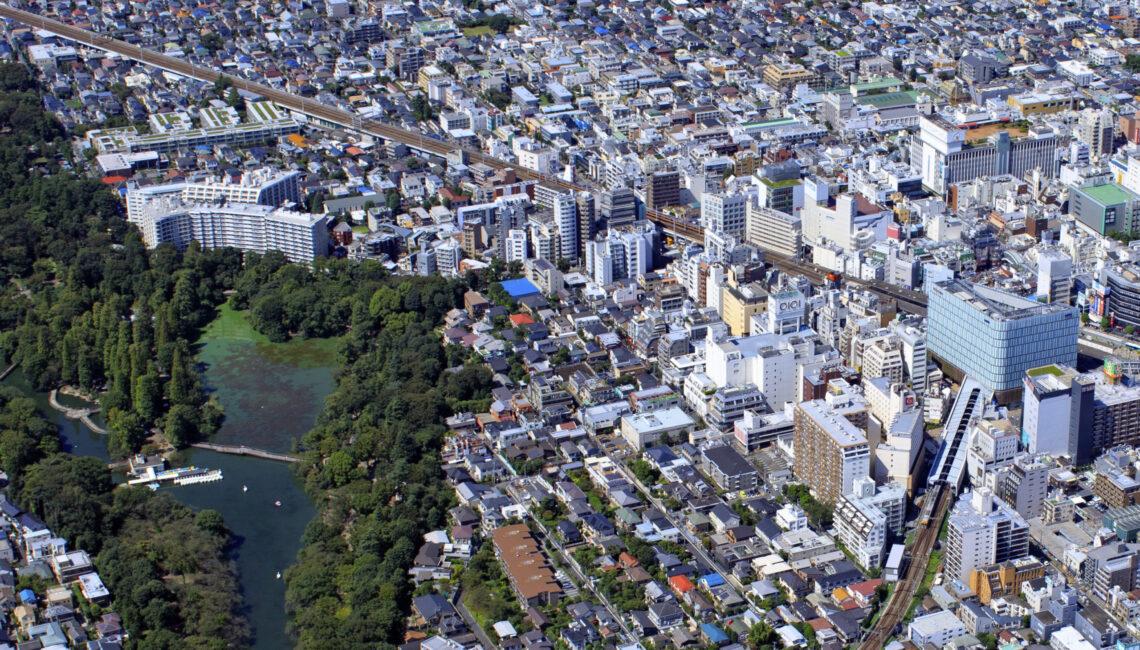 御殿山の上空写真
