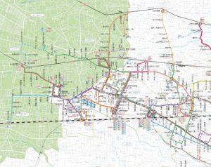 関東バス路線図