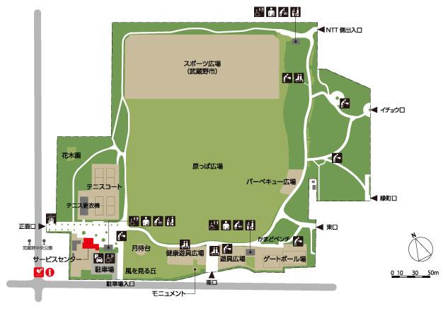 武蔵野中央公園map