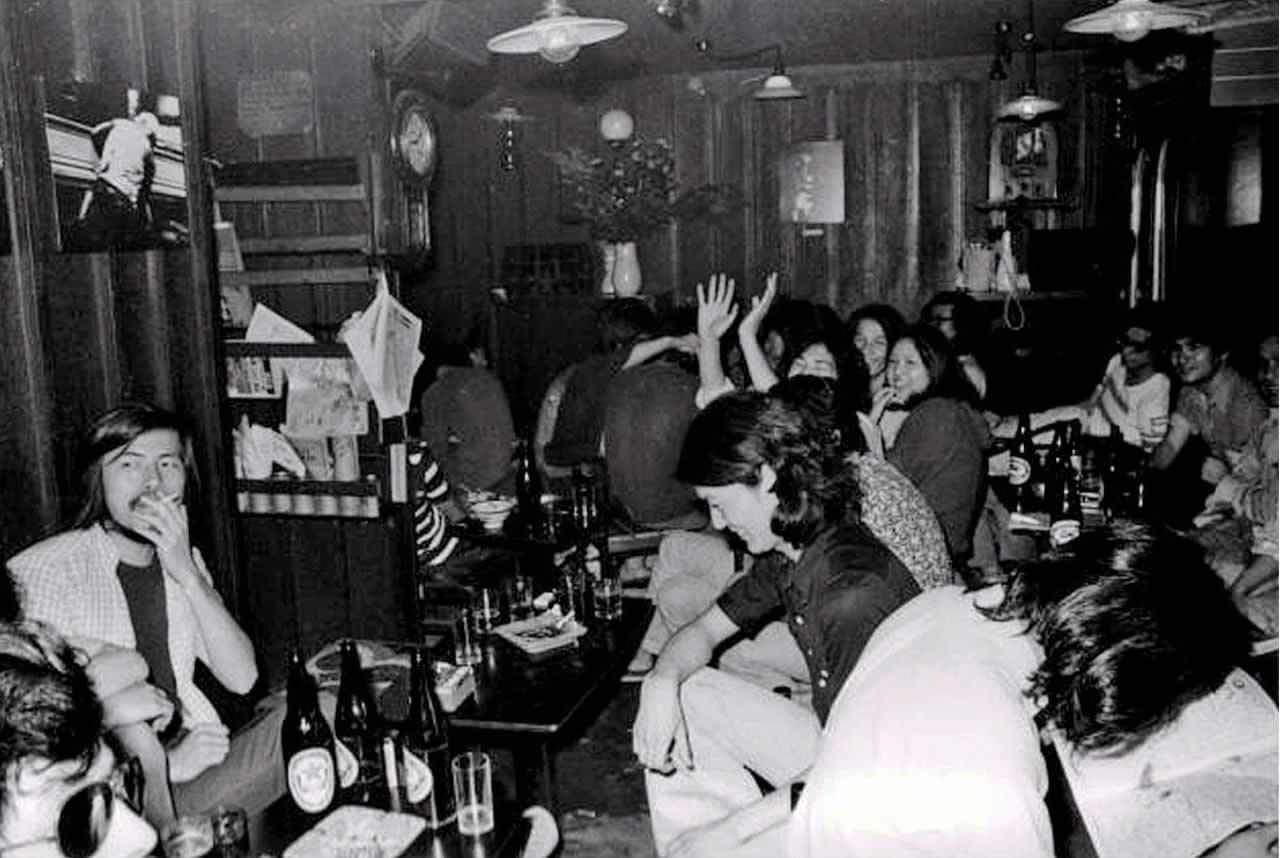 1973年頃の「ぐゎらん堂」の店内