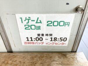 1ゲーム20球200円