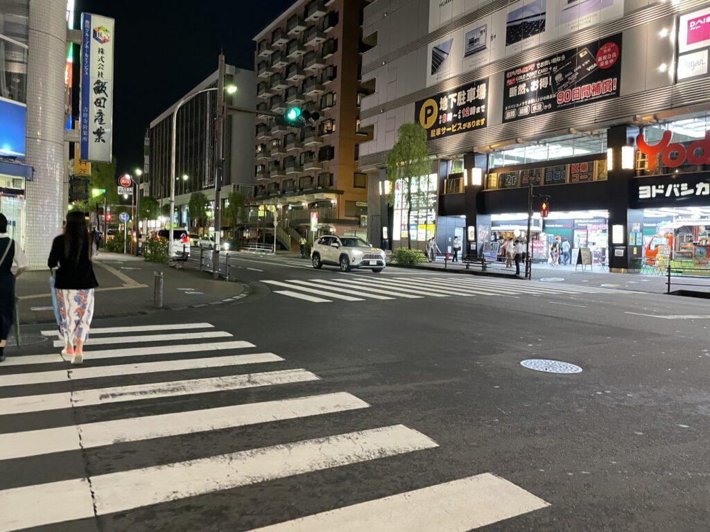 吉祥寺大通り夜