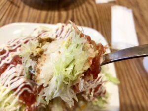 アボカドチーズタコライス(実食)